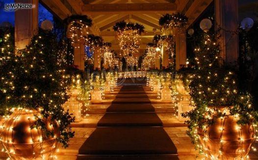 Gioco di luci per il matrimonio  Parco la Serra  Foto 11