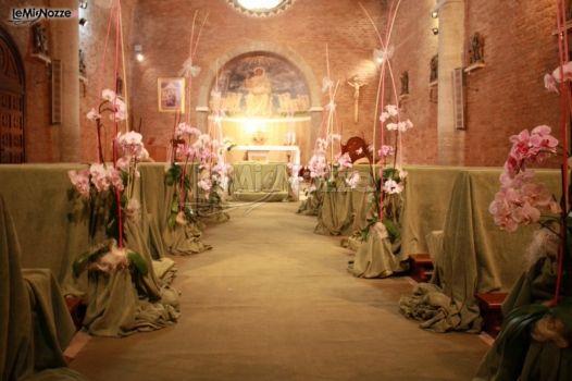Fiori per le nozze nella Chiesa del Divino Amore Roma  Addobbi Gori Daniele  Foto 4