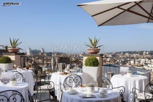 Ricevimento di matrimonio in terrazza con vista su Roma  InterContinental De La Ville Roma  Foto 2