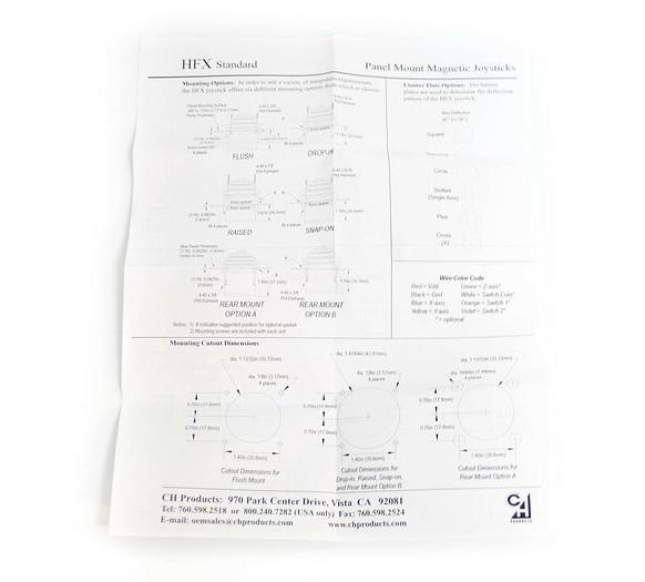 New APEM HFX Series Joystick XYZ Hall Effect HFX-36S40