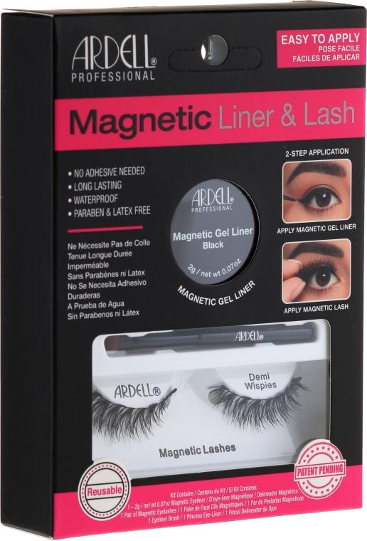 Set - Magnetic Lash & Liner Lash Demi Wispies (eye / liner / 2g + cils / 2 pièces)