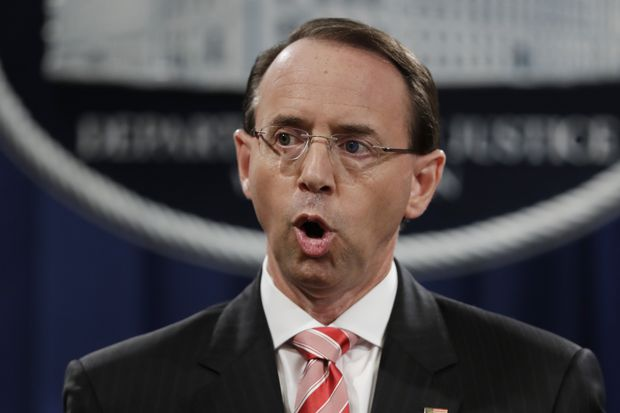 Rod Rosenstein Expected To Leave Justice Department In
