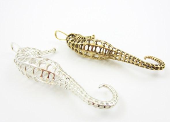 Peter Donders'ın 3D printer ürünleri: mücevher parçaları
