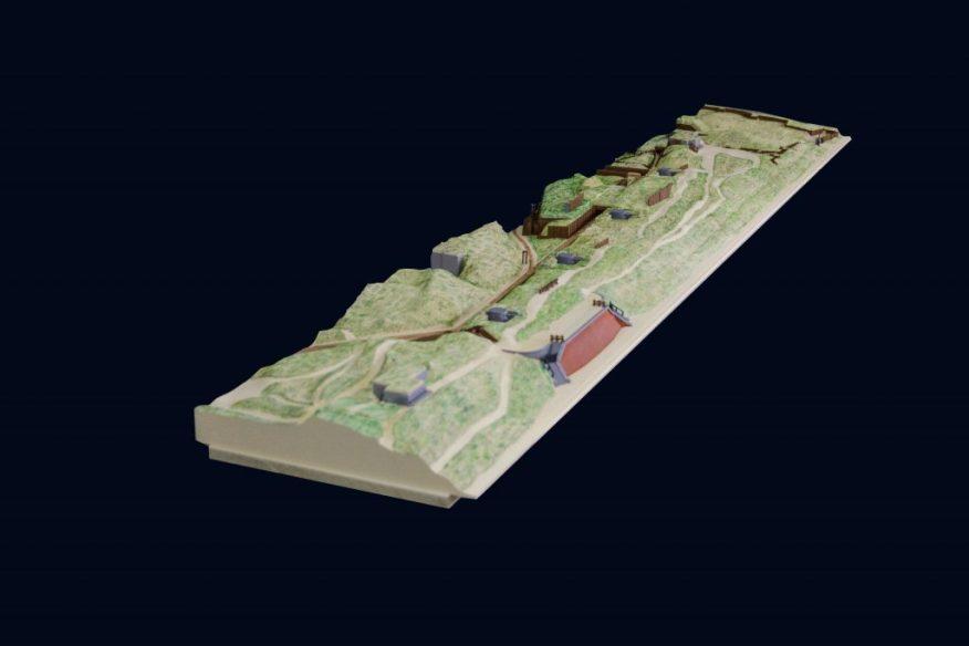 3D-printed WWI coastline scale model