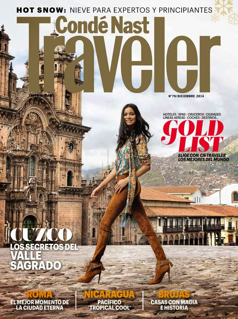Conde Nast Traveler December 2014 Cover Conde Nast Traveler Spain
