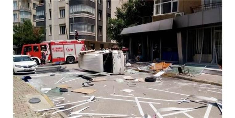 Maltepe'de İş Yerinde Patlama:1 Yaralı