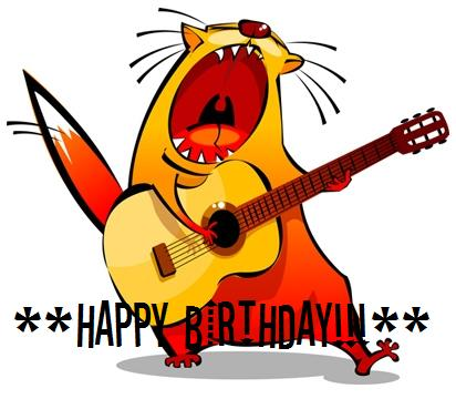 Happy Birthday! Cat Singer Happy Birthday