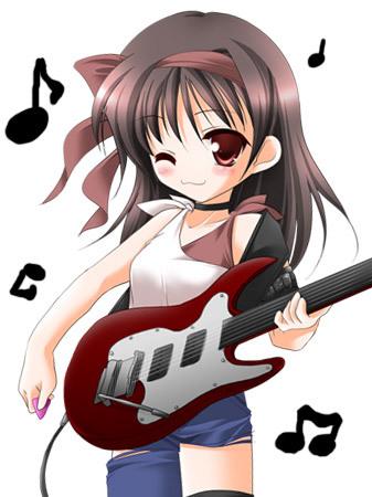 Anime Girl With Guitar Anime