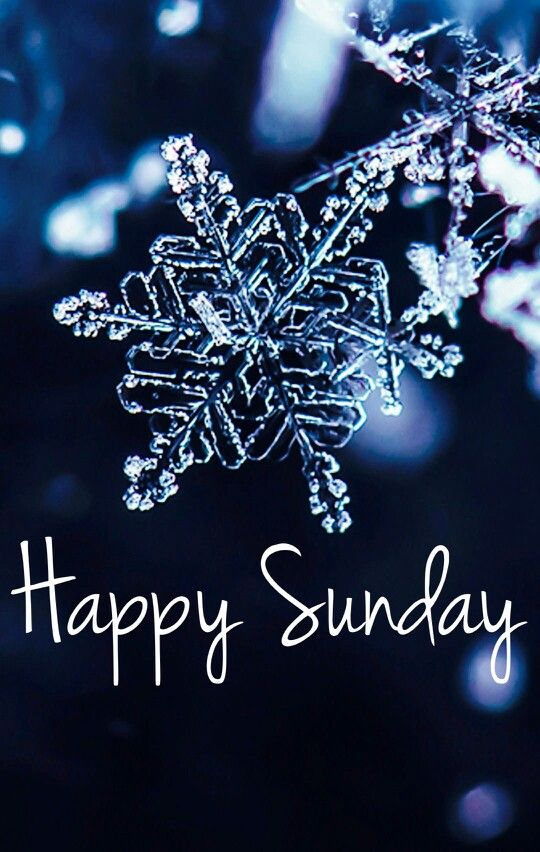 Happy Sunday Snowflake Sunday MyNiceProfile Com