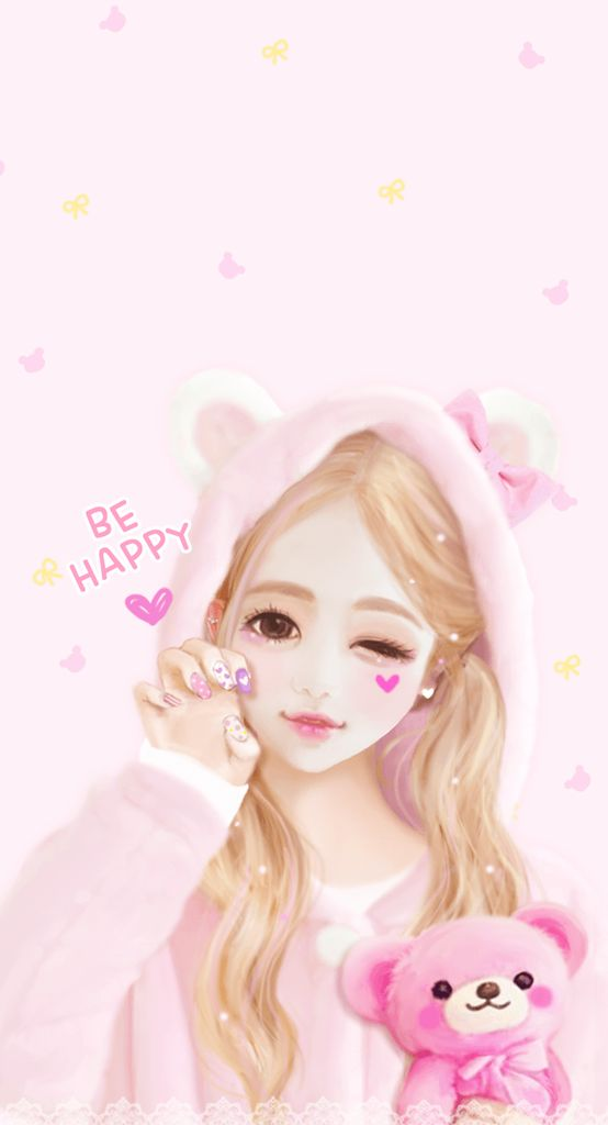 Cute Disney Quotes Wallpapers Be Happy Cute Anime Girl Anime Myniceprofile Com