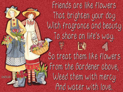 Friends Are Like Flowers That Brighten Your Day Friends
