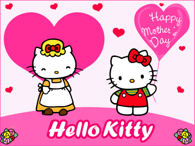 Happy Mother's Day Hello Kitty Pink Hearts Mother's