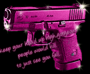Flirty Wallpapers With Quotes Pink Gun Girls Myniceprofile Com