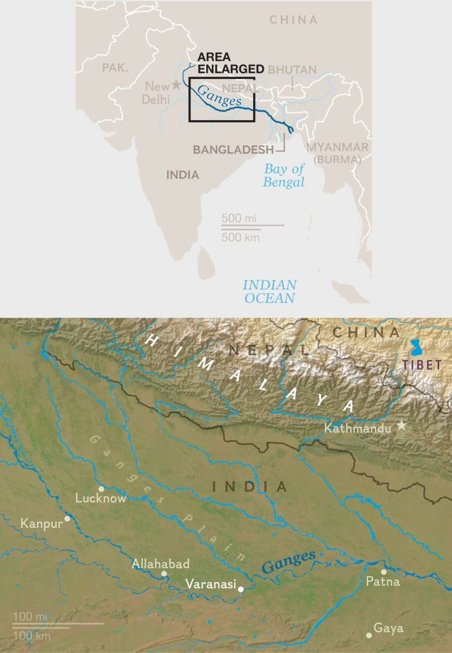 Ganges River India Map : ganges, river, india, Pyres, Varanasi:, Breaking, Cycle, Death, Rebirth