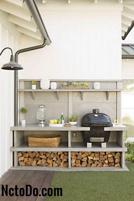 summer kitchen ideas cherry wood cabinets photos 壮观的diy户外厨房的想法2018 todoinfor com 您家的最佳創意2018 现代户外厨房