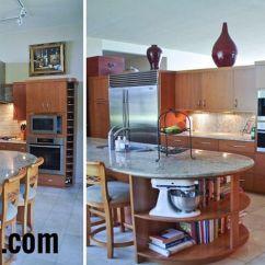 Islands Kitchen Color Choices For Cabinets 小圆形 可移动的厨房岛 表2018 Mastodoc Com 關於房屋訂單設備的好想法 这是同一个大厨房岛上的两个角度