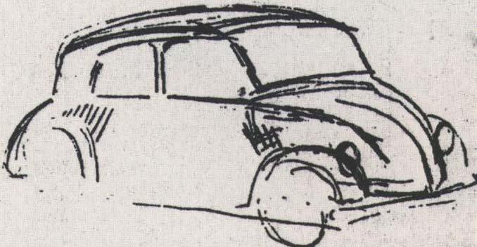 Volkswagen Beetle Prototype Sketch
