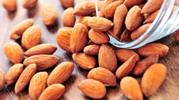 Almonds make a great snack on the road