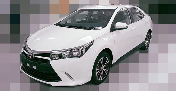 new corolla altis launch date ukuran wiper grand avanza 2015 toyota facelift s pictures leaked ndtv carandbike