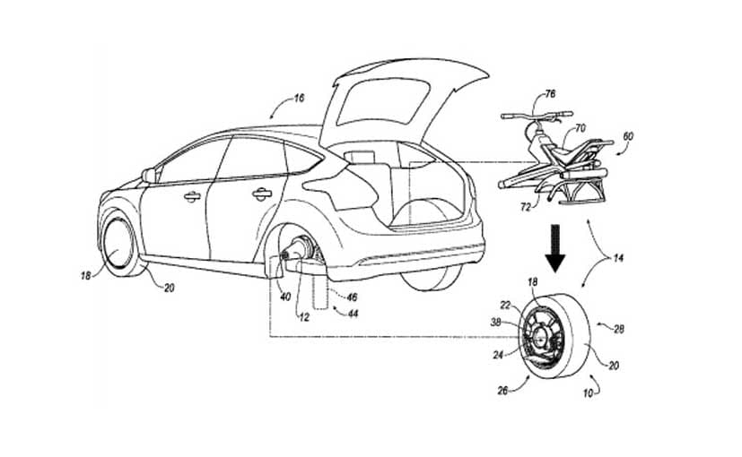 Ford Patents Technology to Convert a Car Tyre Into an