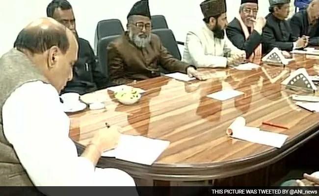 आईएसआईएस के खतरे को लेकर मुस्लिम धर्मगुरुओं से मिले गृह मंत्री राजनाथ सिंह