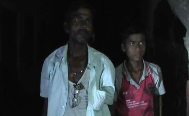 Gulab Yadav, 45, and his son Abhishek knock at each door and do not leave before the families are awake