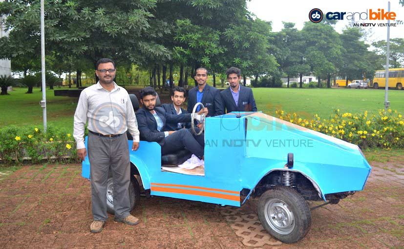 BIT Water Hybrid Car is based on the Maruti Omni