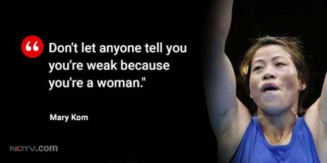 mary kom pull quote