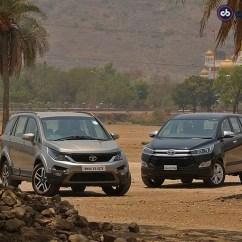 Suspensi All New Kijang Innova Grand Veloz Vs Mobilio Comparison Review Tata Hexa Toyota Ndtv Carandbike