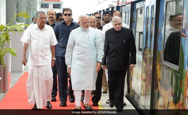 Image result for modi in kochi metro