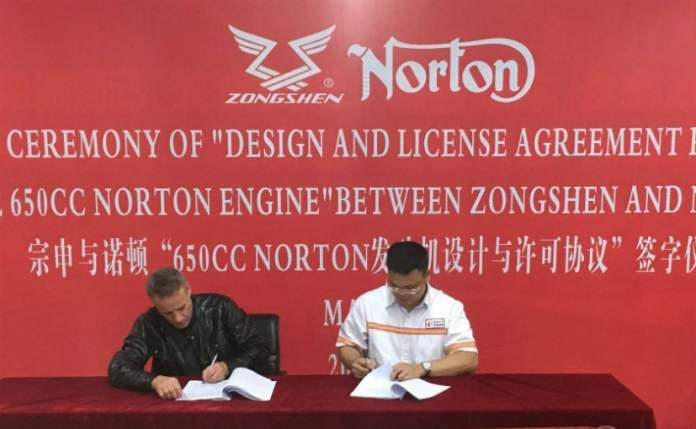 norton signs agreement with chinas zongshen