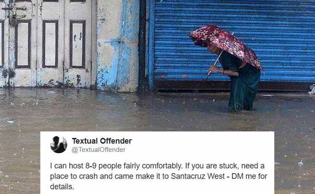 In Rain-Hit Mumbai, Offers Of Food And Shelter Via Twitter