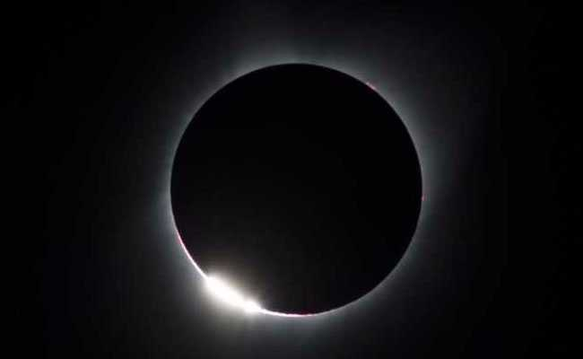 solar eclipse diamond ring afp