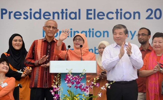 Image result for First woman declared president of singapore