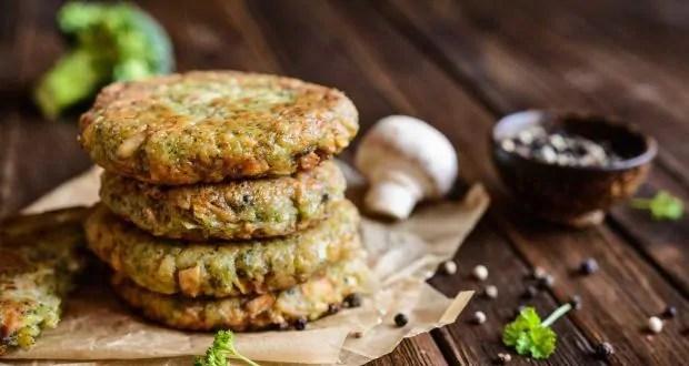 baked mushroom fritters