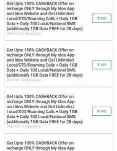 Idea is also offering cashback on these prepaid recharge plans cellular rs vs rh ndtv