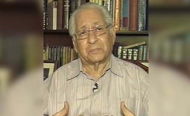 """""""Icon Of India's Legal System"""": Tributes Pour In For Soli Sorabjee"""