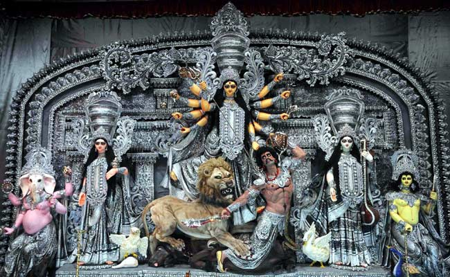 Image result for durga puja unique idols