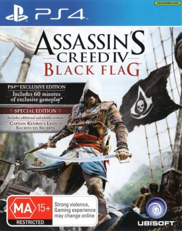 Assassin's Creed IV: Black Flag PS4 Front cover