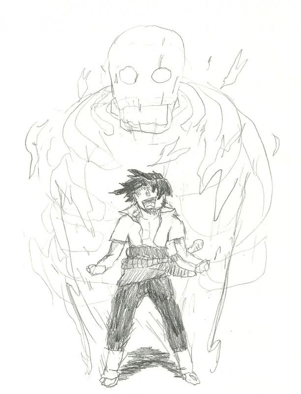 Sasuke and his Susanoo « Naruto Fanart