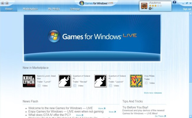 Welcome To The Games For Windows Live Marketplace Neoseeker
