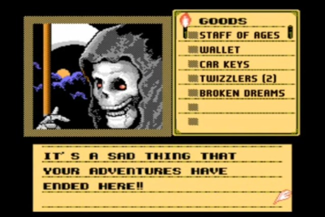 Shadowgate Its A Sad Thing That Your Adventures Have Ended Here Penny Arcade