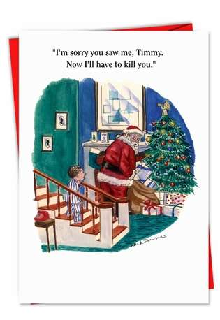 Im Sorry Timmy Funny Christmas Morning Card