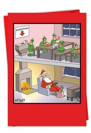 Santa Suggestion Funny Christmas Card