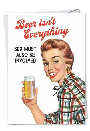 Beer Isnt Everything Valentines Day Greeting Card
