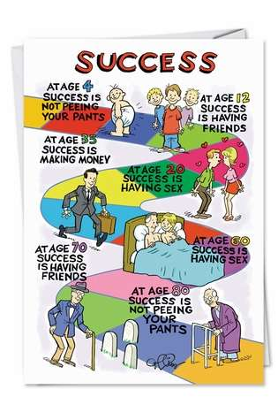 Success Funny Birthday Greeting Card