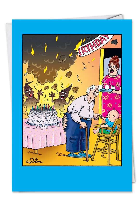 Cake Fart Funny Birthday Greeting Card Nobleworks