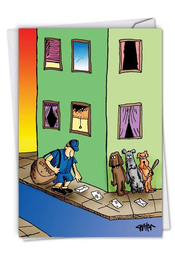 Mailman Corner Birthday Card Nobleworks