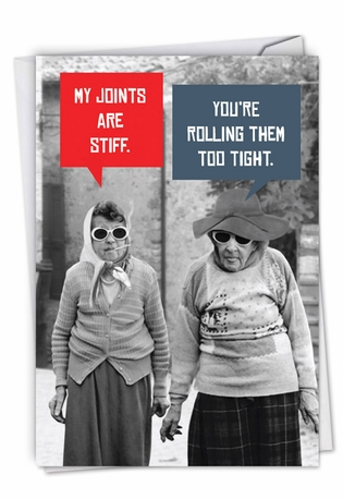 S Joints Funny Birthday Paper Greeting Card