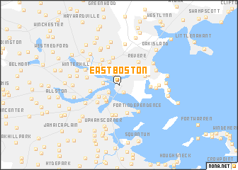 East Boston United States USA map nonanet